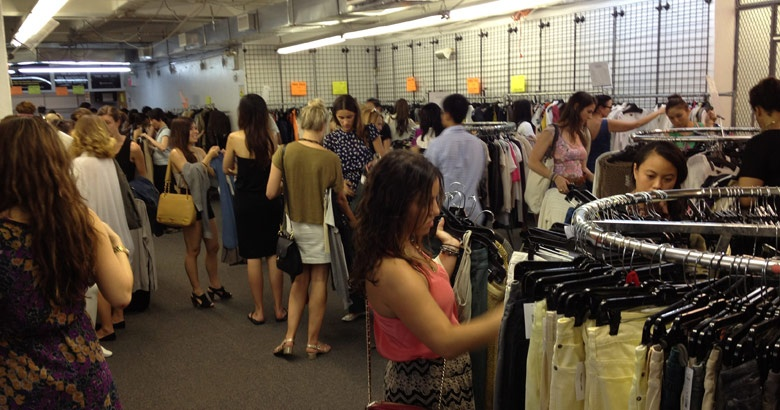 clothingline sample sales